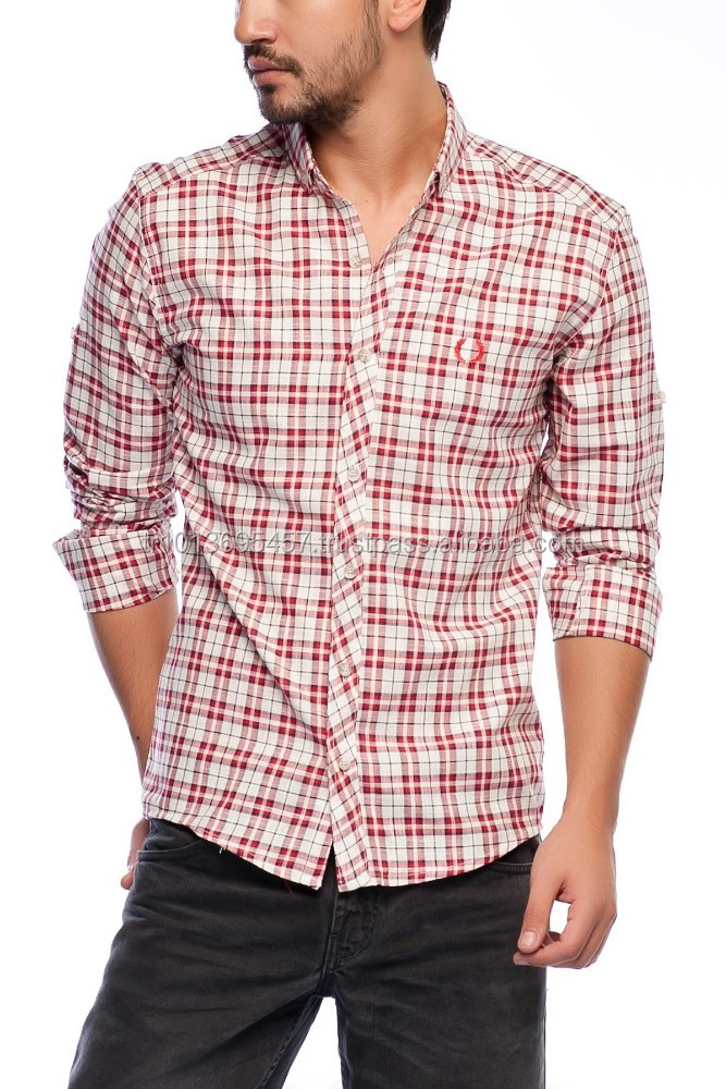 High Quality Turkish Workmanship % 100 cotton Plaid Men Shirt