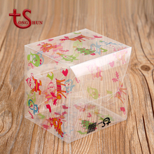 Eco-friendly logo printing cosmetics plastic dragees box for decoration