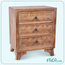 Decoration china nature mdf hand carve wood antique chest