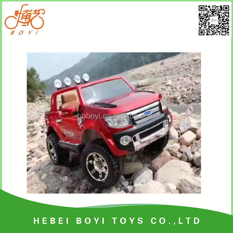 fashion child electric truck / double seats Ride on car with remote control/ Ride on toy