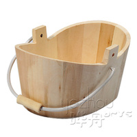 handmade old antique wood bucket
