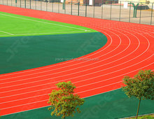 Rubber synthetic athletic paint running track