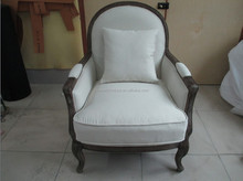 Hot-Selling New Design Wood Frame Upholstered Chair /Neo-classic living room furniture rest chair