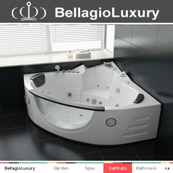 Best sale whirlpool tub, corner massage bathtub, 2 person indoor spa baths