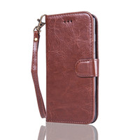 Leather Wallet Stand Flip Phone Cover Book Style Folio Magnetic Cell Phone Cases for iPhone 7 4.7