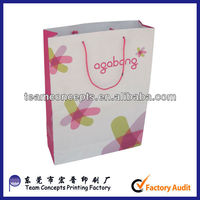 gold gilding hot stamping foil paper bag for suppermarket