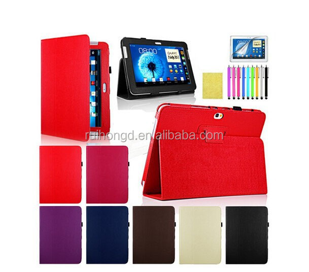 Magnetic Leather Folio Flip/360 Degree Rotating Case for Samsung Galaxy Note 10.1 N8000/Tab 2 P5100/Tab 2 P3100