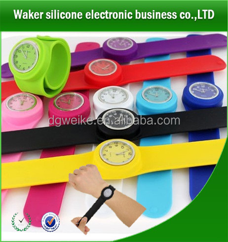 factory price snap or slap on silicone watches,kids slap wrist watch,slap kids watches