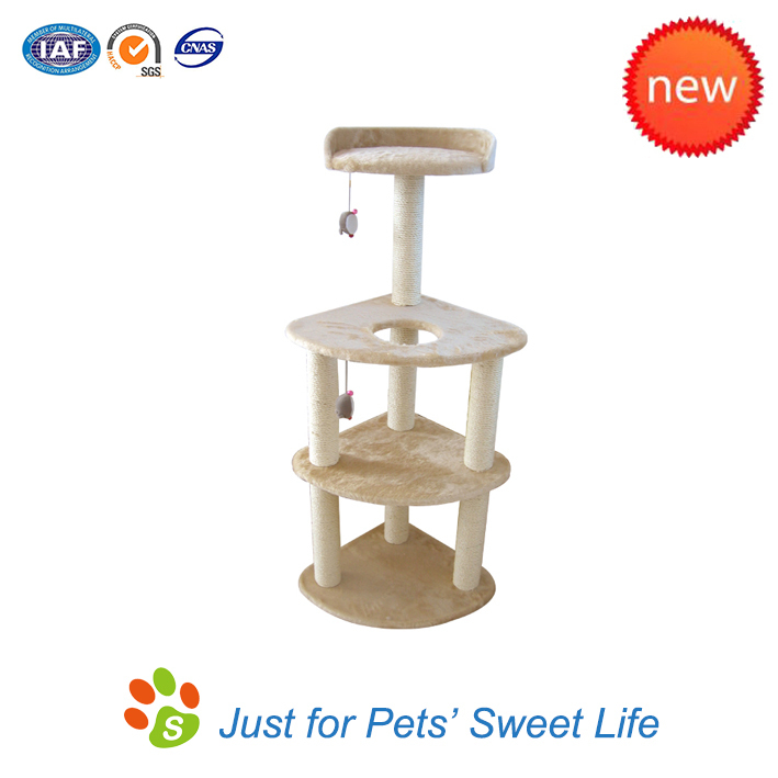 Cat Climbing Tree House with Hanging Ball
