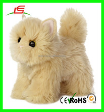 Realistic stuffed animated standing animals plush persian cat toy
