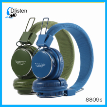 2015 Colorful bluetooth headphone 8809s headset with built in mp3 player and FM radio