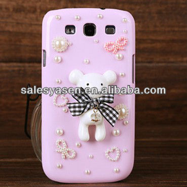 Diamond crystal transparent case for Samsung Galaxy S3 i9300