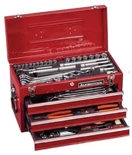 SUPERTOOL Professional Mechanic Combination Tool Set with Metal Case