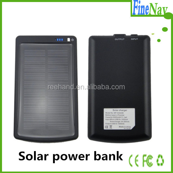 3000mah 5V/1A Portable Solar Charger For <strong>mobile</strong> for Iphone/ for Samsung/HTC/Nokia <strong>Mobile</strong> Phone Emergency Powered Charger