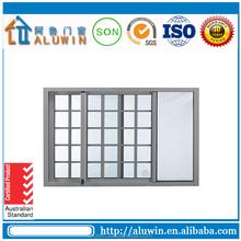 Double track aluminum sliding window for decoration grill design