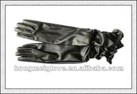 V164 wholesale cheap long pu leather gloves