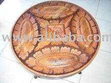 "tea table with a table top motif ""Batik Ceplok Bunga Matahari"""