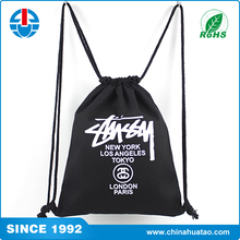 Heavy duty 21D cinch backpack/ 210D polyester drawstring bag With Reinforced PU Corner