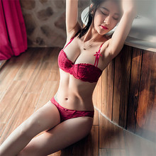 Wholesale girls sexy panty half cup new design of bra pictures
