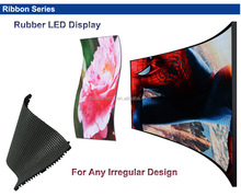 Flexible Soft Rubber LED Display/ Pillar Screen/Curved Screen/