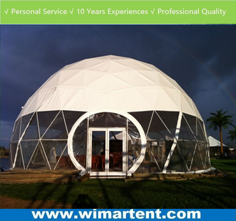 2017 outdoor Big Metal Frame Igloo Geodesic Dome Tent for camp, event