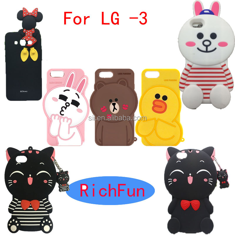 Hot 3D Lovely Cute Cartoon Line Friends Soft Silicon Back Cover <strong>Phone</strong> Case For LG Optimus K4 K5 K7 K8 K10 <strong>Q10</strong> Q7 Q5