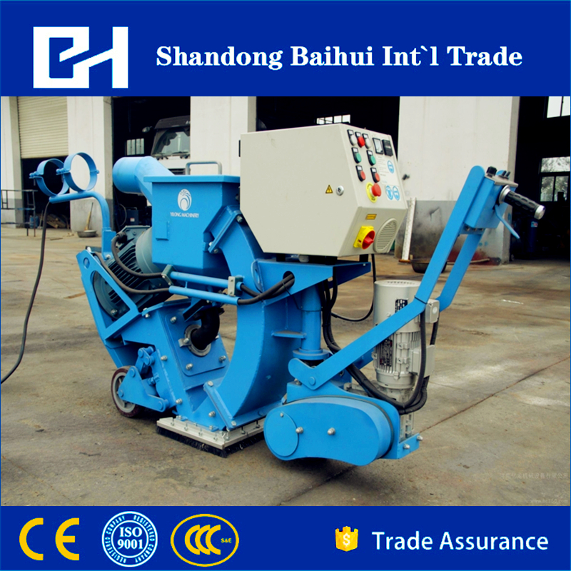 removable road surface cleaning shot blasting machine