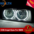 131mm Semi-circle COB White Blue Green Yellow Red Color LED Angel Eyes For BMW E46 E36 E39