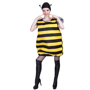Carnival party funny costume adult sexy queen bee costume mascot for women