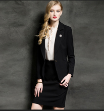 Wholesale OEM service high quality turtle neck one button wool polyester women black latest design coat pant men suit