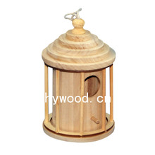Eco-friendly FSC Hanging Wooden Bird Cage Wooden Bird House Bird Cage