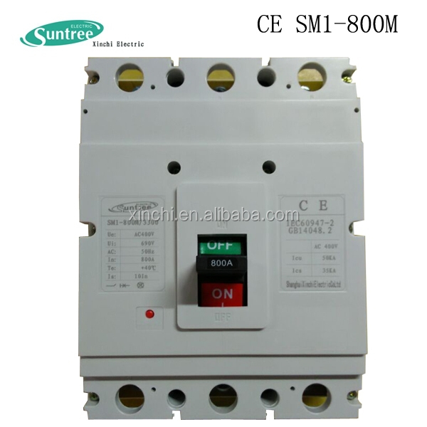 Hot Sale CE Certified 1250A 690V moudled case circuit breaker 3p 4p mccb