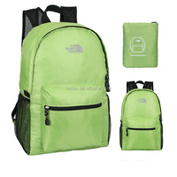 Custom fashion nylon waterproof sports leisure foldable backpack