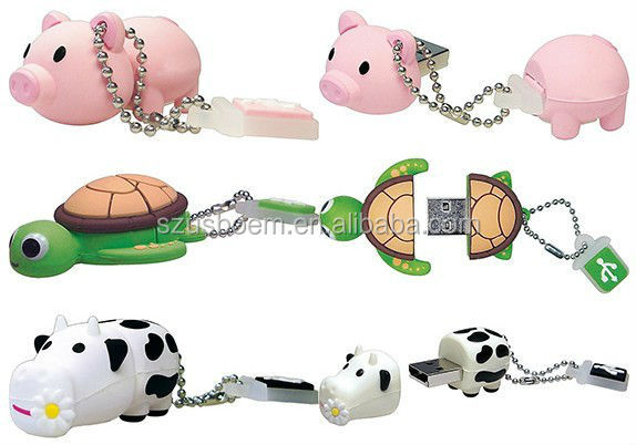 Promotional gift cute lovely animal pig usb Flash Drives from Japan Totally Rock with logo printing