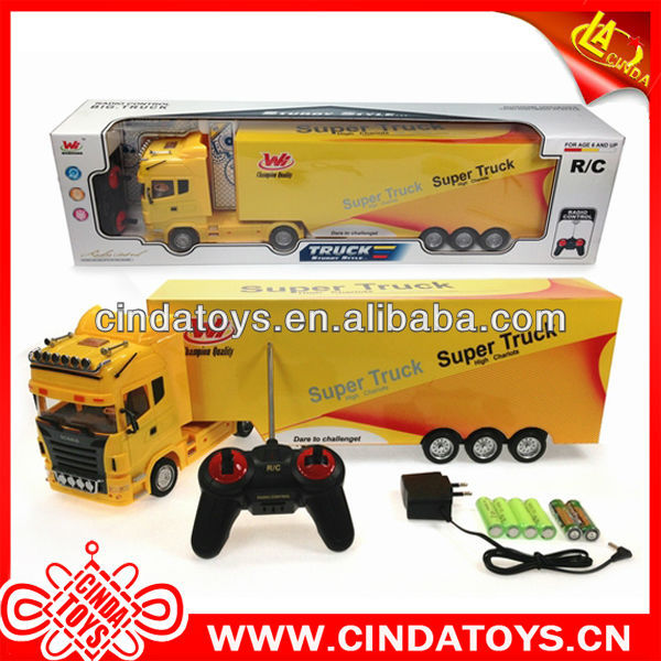 Latest model 4 channel plastic toys rc truck