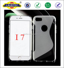 New Coming Mobile Phone S Line TPU Soft Skin Gel Case Back Cover for iPhone7,7 Plus