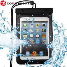 Hot sale High quality pvc waterproof case for ipad mini,dustproof,Sandproof,waterproof dry bag for tablet pc