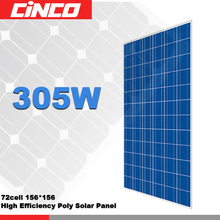 High efficiency 305w solar panel with frame and MC4 connector