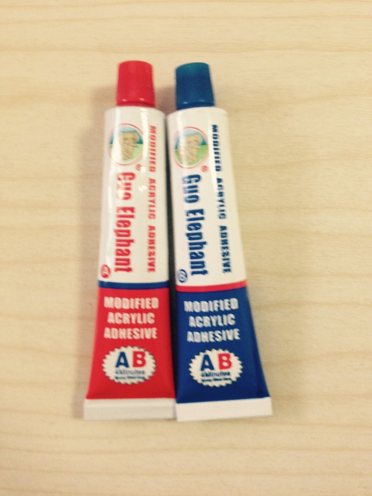 AB Glue , Red and Green Super Glue 502