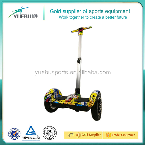 Most Popular Smart 2 Wheel Stand up self balance scooter electric handle bar and hub motor Chariot electric scooter