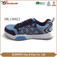 Popular sales male sky blue training european trainer running shoes