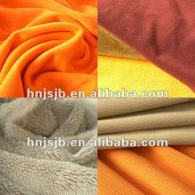 polyester minky dot fabric /home textile fabric,velboa fabric