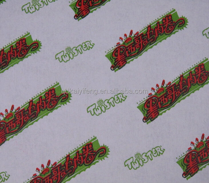 Food Grade Printed Wax Paper for Sandwich Burger Wrapping