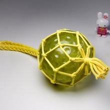 Lovely ball toys dog ball toy shining dog toy yellow