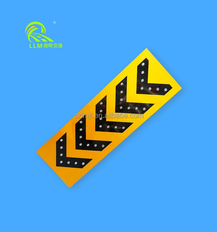 CE approvalled seamless aluminum solar LED road traffic safety signs