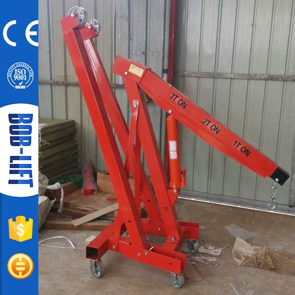Hot Sale Used Small Shop 3 Ton Knuckle Crane