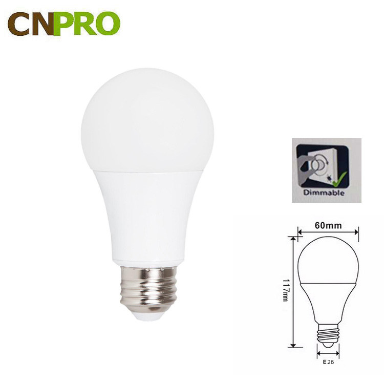 American market Hot sale led bulbs 5w 7w 9w 12w linear dimmable lamp bulb CE ROHS certificate