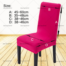 Free Shipping Dinning Home Chair Cover Wedding Solid Colors Spandex Dining Chair Covers For Wedding Party Chair Decoration