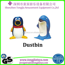 garden outdoor decorative animal dustbin fiberglass dustbin