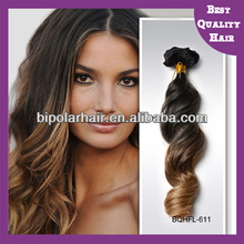 Hot sale virgin remy indian hair hand tied hair weaving hand sewing hair weft ombre color